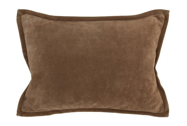 Accent Pillow-Chestnut Suede 14X20 - 360