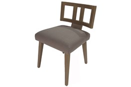Grey Cut Out Back Upholstered Dining Chair