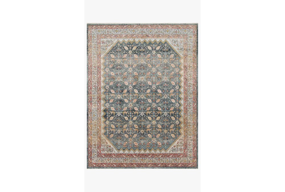 94X120 Rug-Magnolia Home Graham Blue/Persimmon By Joanna Gaines