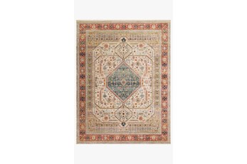 27X48 Rug-Magnolia Home Graham Persimmon/Antique Ivory By Joanna Gaines