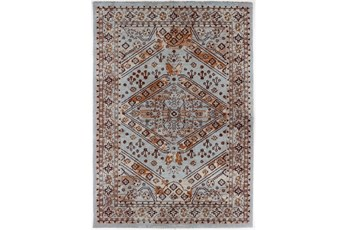 94X126 Rug-Reina Antique Blue/Orange