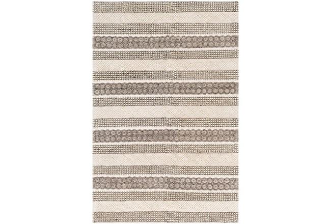 60X90 Rug-Textural Stripe Grey/Ivory - 360