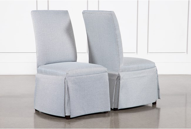 Garten Sky Skirted Dining Side Chairs Set Of 2 - 360