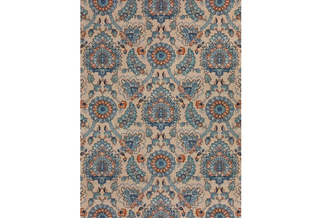 61X84 Outdoor Rug-Bouquet Orange/Blue - 360