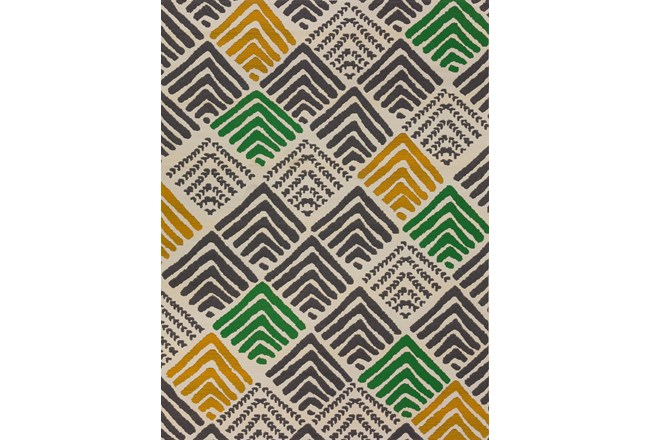 61X84 Outdoor Rug-Peaks Yellow Green - 360