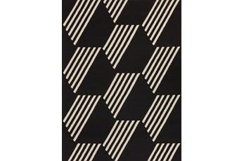 98X120 Outdoor Rug-Hex Black/White
