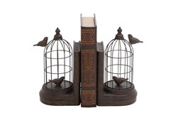 Ca 10 Inch Bird Cage Bookend
