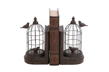 Ca 10 Inch Bird Cage Bookend