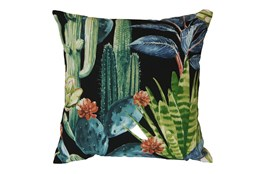 Outdoor Accent Pillow-Foliage Ebony 18X18