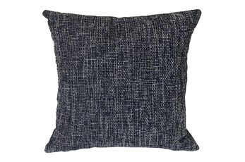 Outdoor Accent Pillow-Navy Textural 18X18