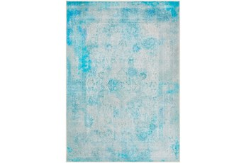 94X122 Rug-Vintage And Traditional Printed Teal