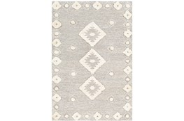 72X108 Rug-High/Low Pile With Diamond Pattern Camel/Cream