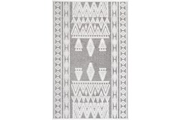 24X35 Rug-Global Inspired Chenille-Cotton Grey/Ivory