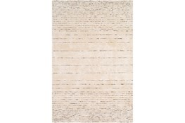 96X120 Rug-Viscose And Wool Modern Brown/Cream