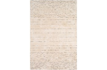 108X156 Rug-Viscose And Wool Modern Brown/Cream