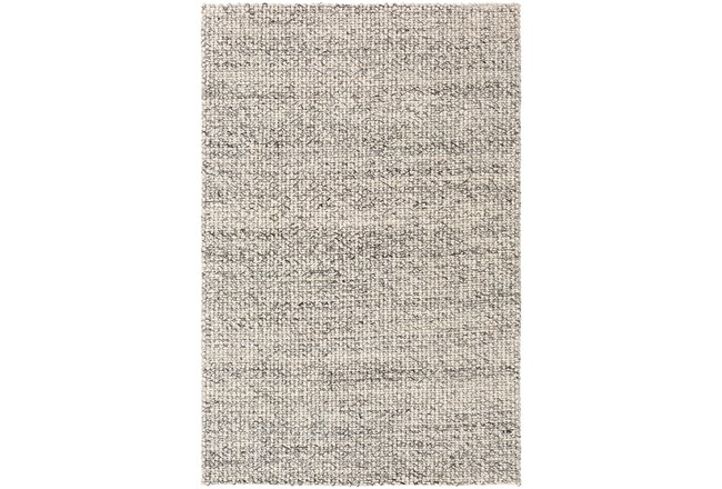 60X90 Rug-Polyester And Wool Woven Charcoal/Ivory - 360