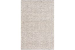60X90 Rug-Polyester And Wool Woven Ivory