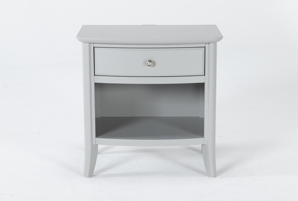 "Greyson Open 26"" Nightstand With USB"