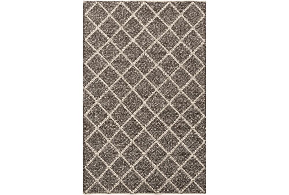 24X36 Rug-Wool And Viscose Lattice Brown/Cream