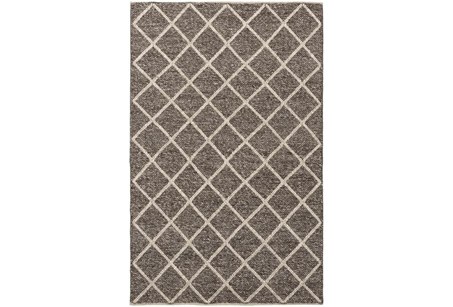24X36 Rug-Wool And Viscose Lattice Brown/Cream - 360