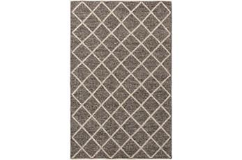 36X60 Rug-Wool And Viscose Lattice Brown/Cream