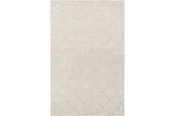 96X120 Rug-Wool And Viscose Lattice Grey