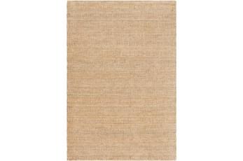 96X120 Rug-Textured Wool Burnt Orange/Khaki