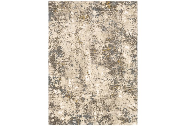 24X36 Rug-Modern With High Pile And Metallic Accents Brown/Cream - 360