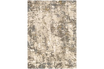108X145 Rug-Modern With High Pile And Metallic Accents Brown/Cream
