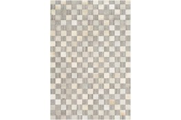 24X36 Rug-Hand Crafted Hide And Viscose Grey