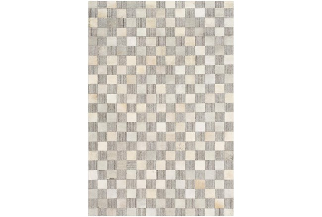 60X90 Rug-Hand Crafted Hide And Viscose Grey - 360