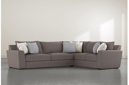 """Delano Charcoal 2 Piece 125"""" Sectional With Left Arm Facing Sofa"""