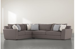 """Delano Charcoal 2 Piece 125"""" Sectional With Right Arm Facing Sofa"""