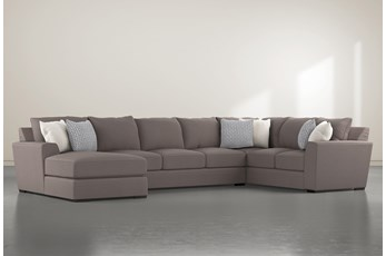 "Delano Charcoal 3 Piece 169"" Sectional With Left Arm Facing Chaise"