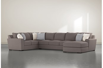 "Delano Charcoal 3 Piece 169"" Sectional With Right Arm Facing Chaise"
