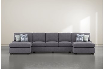 "Harper Down II 3 Piece 156"" Sectional With Double Chaise"