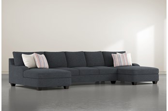 "Sierra Down III 3 Piece 156"" Sectional With Double Chaise"