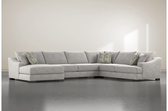 "Lodge Fog 4 Piece 178"" Sectional With Left Arm Facing Chaise"