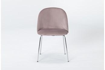 Ava Blush Velvet Dining Side Chair
