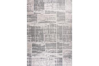 94X126 Rug-Distressed Patchwork Grey