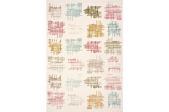 63X90 Rug-Grid Blocks Pastel