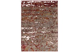 94X126 Rug-Galaxy Spots Red/Grey