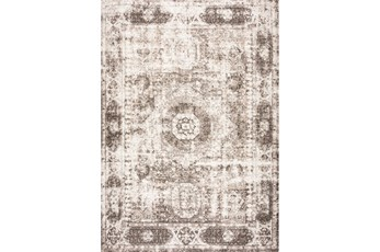 94X126 Rug-Traditional Leaves Brown/Beige
