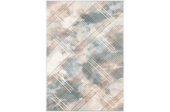 63X90 Rug-Overlapping Paid Seaglass/Beige