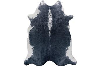 106X132 Rug-Faux Hide Graphite
