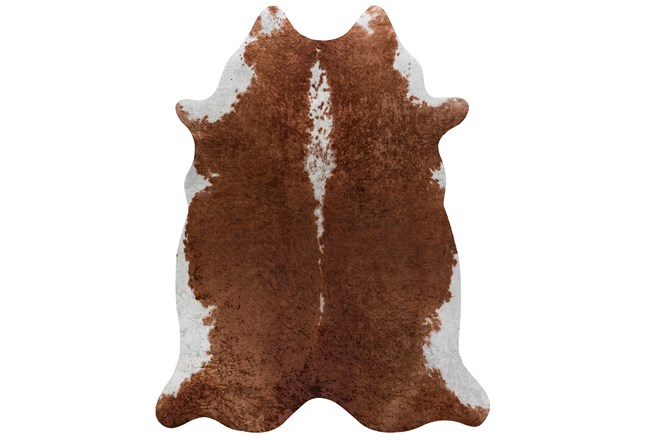 66X82 Rug-Faux Hide Saddle Brown - 360