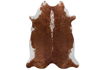106X132 Rug-Faux Hide Saddle Brown