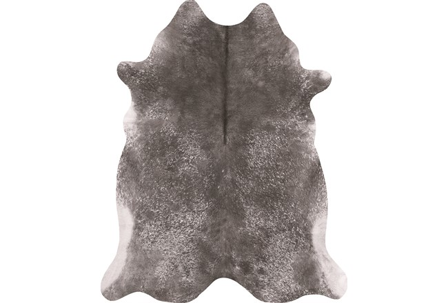 42X52 Rug-Faux Hide Galvinized Pewter - 360