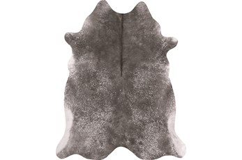 106X132 Rug-Faux Hide Galvinized Pewter