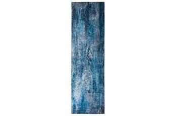 27X90 Rug-Borealis Lustre Deep Blue